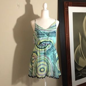 Multi color patterned Tank Fit and Flare Dress